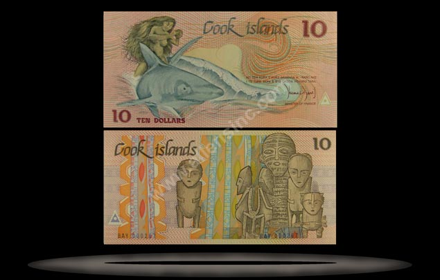Cook Islands Banknote, 10 Dollars, ND (1987), P#4a