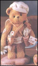 Boy Bear Cupid - Sent With Love, Cherished Teddies Figurine #103551