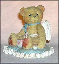 Cupid Baby Boy On Pillow - Little Bundle Of Joy, Cherished Teddies Figurine #103659B