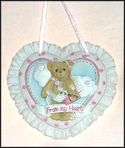 Wall Hanging - From My Heart, Cherished Teddies Plaque #104116F