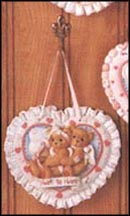 Wall Hanging - Heart To Heart, Cherished Teddies Plaque #104116H