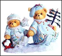 Selma & Arlana -  Winter Wonders, Faithful Friends , Cherished Teddies Figurine #112390