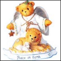 Tessa -  Peace On Earth , Cherished Teddies Figurine #112412 MAIN