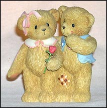 Our Love Is Shown With Hugs And Kisses, Cherished Teddies Figurine #113687 MAIN