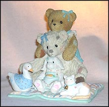 Chrissy & Friends - It's Great When You Have Friends To Lean on, Cherished Teddies Figurine #114124