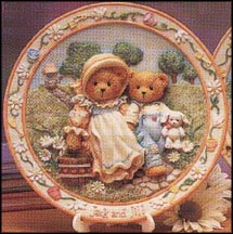 Jack And Jill - Our Friendship Will Never Tumble, Cherished Teddies Plate #114901
