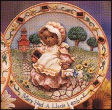 Mary Had A Little Lamb - I'll Always Be By Your Side, Cherished Teddies Plate #128902 MAIN