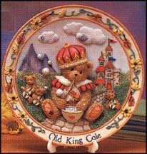 Old King Cole - You Wear Your Kindness Like A Crown, Cherished Teddies Plate #135437