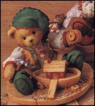Yule - Building A Sturdy Friendship, Cherished Teddies Figurine #141143
