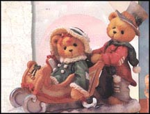Lindsey & Lyndon - Walking In A Winter Wonderland, Cherished Teddies Figurine #141178A