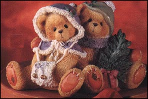 Cheryl & Carl - Wishing You A Cozy Christmas, Cherished Teddies Figurine #141216