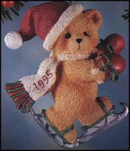 Bear With Ice Skates - Bear Skating, Cherished Teddies Ornament #141232