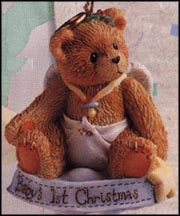 Baby Angel On Cloud - Baby's First Christmas, Cherished Teddies Ornament #141240