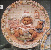 Little Miss Muffet - I'm Never Afraid With You By My Side, Cherished Teddies Plate #145033