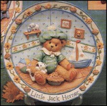 Little Jack Horner - I'm Plum Happy You're My Friend, Cherished Teddies Plate #151998 MAIN