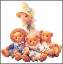 Mother Goose & Friends - Friends Of A Feather Flock Together, Cherished Teddies Figurine #154016