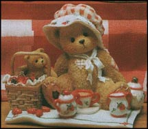 Thelma - Cozy Tea For Two, Cherished Teddies Figurine #156302