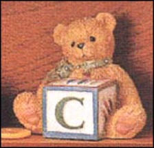 Bear With C Block, Cherished Teddies Block Letter #158488C MAIN