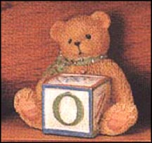 Bear With O Block, Cherished Teddies Block Letter #158488O