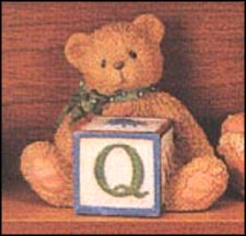 Bear With Q Block, Cherished Teddies Block Letter #158488Q