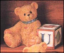 Bear With U Block, Cherished Teddies Block Letter #158488U