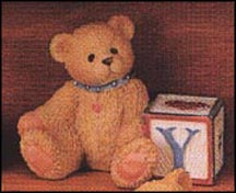 Bear With Y Block, Cherished Teddies Block Letter #158488Y