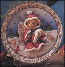 Snow Angel With Birds - The Season Of Peace, Cherished Teddies Plate #176060