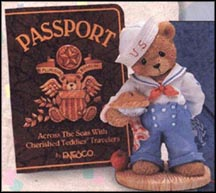 Bob - America  Our Friendship Is From Sea To Shining Sea, Cherished Teddies Figurine #202444