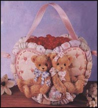 Heart Basket/Heart Candy, Cherished Teddies Basket #203246C
