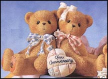 2 Bears Anniversary You Grow More Dear With Each Passing Year, Cherished Teddies Figurine #215880