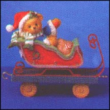 Nick - Ho, Ho, Ho... To The Holidays We Go, Cherished Teddies Figurine #219312