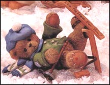 Spencer - I'm Head Over Skis For You, Cherished Teddies Figurine #269743