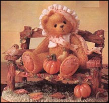 Cathy - An Autumn Breeze Blows Blessings To Please, Cherished Teddies Figurine #269980