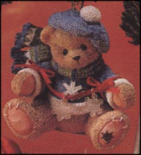 Dangling Snow Flake - Ornament, Cherished Teddies Ornament #272175