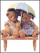 Carter & Elsie - We're Friends Rain Or Shine, Cherished Teddies Figurine #302791