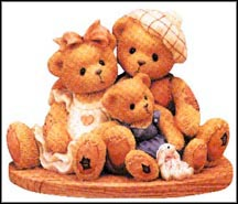 Penny, Chandler, Boots - We're Inseparable, Cherished Teddies Figurine #337579