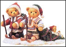 Segrid, Justaf & Ingmar - The Spirit Of Christmas Grows In Our Hearts, Cherished Teddies Figurine #352799