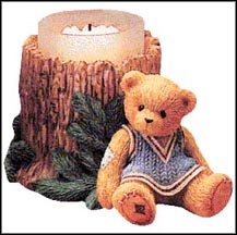 Girl With Tree Trunk, Cherished Teddies Candle Holder #353973