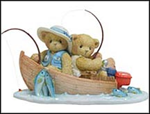 Fran & Hank - You're A Perfect Catch, Cherished Teddies Figurine #4001914 MAIN
