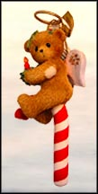 Bear With Candle Candy Cane, Cherished Teddies Ornament #4004617 MAIN