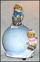 Havin' A Snowball Musical Globe, Cherished Teddies Figurine #4004846