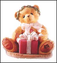 Margy - I'm Wrapping Up A Little Holiday, Cherished Teddies Figurine #475602 MAIN