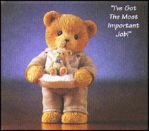 I've Got The Most Important Job, Cherished Teddies Figurine #476382