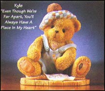 Kyle - Even Though We're Far Apart, You'll Always Have A Place In My Heart, Cherished Teddies Figurine #476390