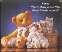 Randy - You're Never Alone With Good Friends Around, Cherished Teddies Figurine #476498 MAIN
