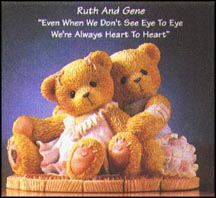 Ruth And Gene - Even When We Don't See Eye To Eye, We're Always Heart To Heart, Cherished Teddies Figurine #476668