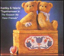 Stanley & Valerie - Togetherness Is The Reason, Cherished Teddies Covered Box #476676