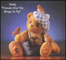 Teddy - Friends Give You Wings To Fly, Cherished Teddies Figurine #476757