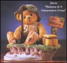 Norm - Patience Is A Fisherman's Virtue, Cherished Teddies Figurine #476765