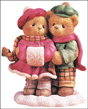 Carlin & Janay - When I Count My Blessings,  I Count You Twice, Cherished Teddies Figurine #533874